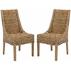 Safavieh Suncoast Rattan Arm Chair (Set Of 2), Brown