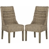 Safavieh Suncoast Rattan Arm Chair (Set Of 2), Natural Unfinished