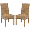Sanibel Rattan Side Chair (Set Of 2), Brown