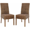 Safavieh Sanibel Rattan Side Chair (Set Of 2), Light Brown