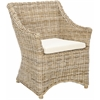 Ventura Arm Chair, Brown/ White Washed
