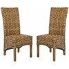Safavieh Isla Rattan Side Chair (Set Of 2), Brown