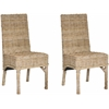 Safavieh Beacon Rattan Side Chair, Natural Unfinished