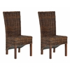 Ridge Rattan Side Chair, Croco Color