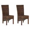 Ridge Rattan Side Chair, Croco Color