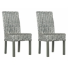 Wheatley Rattan Side Chair, Grey White Wash