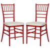 Clear Carly Side Chair, Red