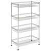 Safavieh Gaston 4 Tier Chrome Wire Mini Rack, Chrome