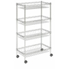 Mario 4 Tier Chrome Wire Basket Rack, Chrome