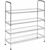Lidia Chrome Wire Adjustable Shoe Rack, Chrome