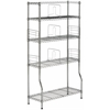 Safavieh Fernand Chrome Wire Book Rack, Chrome