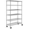 Safavieh JULIET 6 TIER HEAVY DUTY CHROME WIRE SHELVE