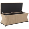 Aroura Storage Bench, Brown/ Cream Tweed