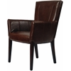Ken Arm Chair, Brown Leather