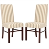 Classic Side Chair (Set Of 2), Cream/ Tan Stripe