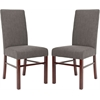 Classic Side Chair (Set Of 2), Charcoal Brown