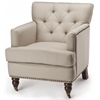 Colin Tufted Club Chair, Ecru
