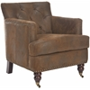 Colin Tufted Club Chair, Brown