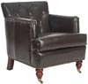 Safavieh Colin Leather Tufted Club Chair, Brown