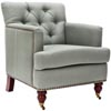 Colin Tufted Club Chair, Sea Mist