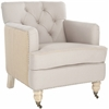 Safavieh Colin Tufted Club Chair, Taupe/ Beige