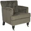 Colin Tufted Club Chair, Graphite