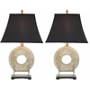 Gabriella Circle Lamp (Set Of 2), Black Satin