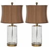 Aerie Glass Table Lamp, Brown