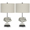 Safavieh Silver Shell Lamp, Silver/ Grey