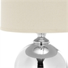 Icott Mercury Glass Table Lamp, Silver/ Off-White Shade