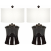 Gary Ceramic Table Lamp, Dark Brown