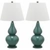 Safavieh Cybil Double Gourd Lamp, Marine Blue