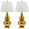 Cybil Double Gourd Lamp, Gold