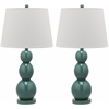 Safavieh Jayne Three Sphere Glass Lamp, Marine Blue