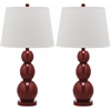 Safavieh Jayne Three Sphere Glass Lamp, Chinese Red