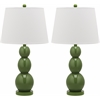 Safavieh Jayne Three Sphere Glass Lamp, Fern Green
