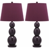 Safavieh Jayne Three Sphere Glass Lamp, Dark Purple