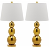 Jayne Three Sphere Glass Lamp, Gold
