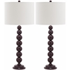 Safavieh Jenna Stacked Ball Lamp, Deep Purple