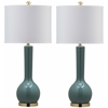 Safavieh Mae Long Neck Ceramic Table Lamp (Set Of 2), Marine Blue