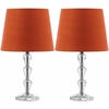 Dylan Tiered Crystal Orb Lamp, Clear/Orange