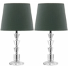 Safavieh Harlow Tiered Crystal Orb Lamp, Clear/Green