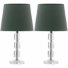 Safavieh Erin Crystal Cube Lamp, Clear/Green