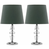 Crescendo Tiered Crystal Lamp, Clear/Green