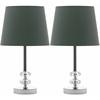 Ashford Crystal Orb Lamp, Clear/Green