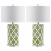 Garden Lattice Table Lamp, Green