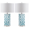 Diamonds Table Lamp, Lt Blue