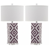 Diamonds Table Lamp, Lt Purple