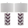 Chevron Stripe Table Lamp, Purple