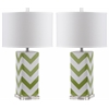 Chevron Stripe Table Lamp, Green